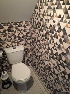 WC pose papier peint graphique La Riche