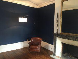 salon peinture murs laque mate corniches plinthes laque satinée Savonnières