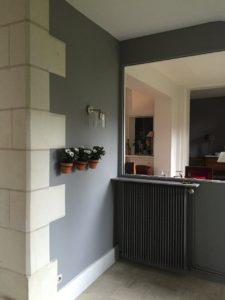 Peinture laque veloutés murs entrée