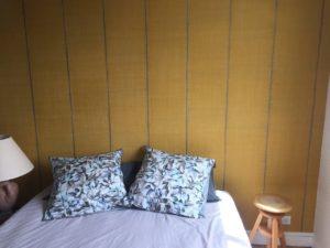 Chambre papier peint tête de lit Elitis Chambray les Tours