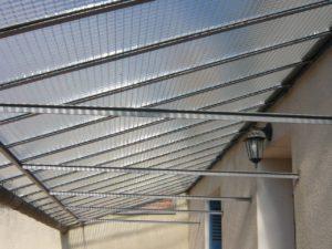 Remplacement verrière verre armé grande maille avec bande siral Saint Cyr sur Loire